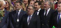 Catalá, Zoido y Méndez de Vigo entonan 'Soy el novio de la muerte'