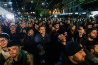 Partidarios del Movimiento Cinco Estrellas, de corte antieuropeísta, celebran los buenos resultados de la agrupación en las elecciones del 4 de marzo. Credit Gianni Cipriano para The New York Times