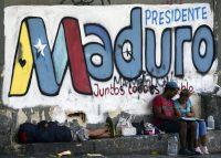 El presidente de Venezuela, Nicolás Maduro, ha hecho campaña de cara a las elecciones del 20 de mayo. En Caracas, un grafiti de la campaña presidencial de Maduro, el 11 de mayo de 2018. Credit Luis Robayo/Agence France-Presse — Getty Images