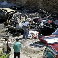 A car bombing that killed two national policemen in the village of Sanguesa in northern Spain in 2003 was attributed to the Basque separatist group ETA.CreditRafa Rivas/Agence France-Presse — Getty Images