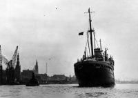17 juin 1939, le paquebot«Saint-Louis» arrive à Anvers avec 927 réfugiés juifs allemands à bord. Photo Hulton Archives. Getty Images