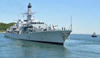 HMS Sutherland visits Japan in April. Photo: Getty Images.