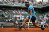 Rafael Nadal sliding in the clay during the 2018 French Open.CreditChristophe Archambault/Agence France-Presse — Getty Images