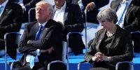 US President Donald Trump and British Prime Minister Theresa May. Dan Kitwood/Getty Images.