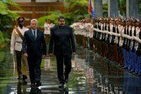 El presidente cubano, Miguel Díaz-Canel, y el presiente venezolano, Nicolás Maduro, en La Habana en abril de 2018 Credit Yamil Lage/Agence France-Presse — Getty Images