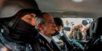 Former Guatemalan President Alvaro Colom is arrested under corruption charges. JOHAN ORDONEZ/AFP/Getty Images