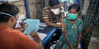 Patients wait for testing and medical treatment for tuberculosis. Paula Bronstein/Getty Images