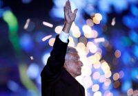Andrés Manuel López Obrador, el candidato a la presidencia de México por la coalición Juntos Haremos Historia, en el cierre de su campaña en el estadio Azteca en Ciudad de México, el 27 de junio de 2018 Credit Edgard Garrido/Reuters