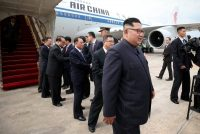 North Korea's leader, Kim Jong-un, arriving in Singapore for a summit meeting with President Trump.CreditSingapore's Ministry of Communications and Information, via Reuters