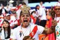 Un fan de Perú grita en el Arena Mordovia, en Saransk, antes del inicio del partido de su selección contra Dinamarca. Credit Epa-Efe/Rex, vía Shutterstock