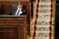 Mariano Rajoy, expresidente del Gobierno español, en el Congreso en Madrid, el 18 de octubre de 2017 Credit Juan Carlos Hidalgo/Epa-Efe/Rex/Shutterstock