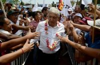 The Mexican presidential candidate Andrés Manuel López Obrador greeted supporters in Guerrero State in May.CreditFrancisco Robles/Agence France-Presse — Getty Images