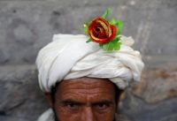 A peace demonstrator in Kabul on June 18. (Mohammad Ismail/Reuters)