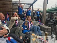 The writer watched the Iceland-Argentina match with her family and friends at a rooftop bar in Reykjavik.CreditThe writer watched the Iceland-Argentina match with her family and friends at a rooftop bar in Reykjavik.