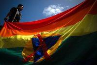 Manifestations pour des droits légaux de la communauté LGBT, en juin 2009 à Caracas. Photo UIG via Getty Images