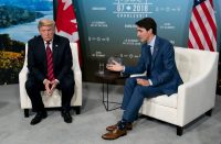 President Trump with Prime Minister Justin Trudeau of Canada at the Group of 7 meeting last Friday.CreditDoug Mills/The New York Times