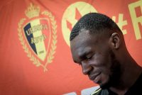 Belgium's Christian Benteke takes part in a press conference of the Belgian national soccer team Red Devils on May 24, 2018, in Tubize prior to the final squad selection for the upcoming FIFA World Cup 2018 in Russia. (Photo by BRUNO FAHY / various sources / AFP) / Belgium OUT (Photo credit should read BRUNO FAHY/AFP/Getty Images)