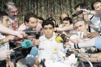 Diego Armando Maradona durante la rueda de prensa tras su suspensión de la Copa del Mundo, el 30 de junio de 1994 Credit Tim Sharp/Associated Press