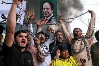 Former Pakistan Prime Minister Nawaz Sharif is fighting a battle for his political survival after falling out with the military.CreditAgence France-Presse — Getty Images