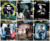 """Jair Bolsonaro, ha sido apodado como """"el mito"""" por su irreverencia, es muy popular entre el electorado menor de 34 años. Seguidores del candidato diseñaron algunas camisetas que lo retratan. Credit Nacho Doce/Reuters"""