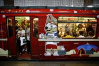 A subway car in Moscow, where more than 20 new stations have been opened since 2009.CreditRebecca Blackwell/Associated Press