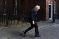 Former UK foreign secretary Boris Johnson arrives at Downing Street for a cabinet meeting in London on July 3. (Andy Rain/EPA-EFE/Shutterstock)