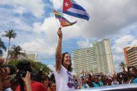 Mariela Castro, diputada e hija del expresidente Raúl Castro, ha sido la figura política que más ha apoyado los derechos LGTB en Cuba. Credit Guillermo Nova/Picture Alliance, vía Getty Images