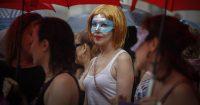 Manifestación de prostitutas en Barcelona. CARLES RIBAS