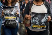 El 10 de agosto de 2018 se organizó una protesta para pedir la liberación del diputado venezolano Juan Requesens, acusado por el gobierno de participar en el atentado contra Maduro del 4 de agosto. Credit Miguel Gutiérrez/EPA, vía Shutterstock