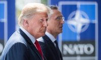 Bernd von Jutrczenka/picture alliance via Getty Images President Donald Trump with NATO Secretary General Jens Stoltenberg, Brussels, July 11, 2018
