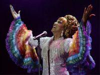 Lucrecia, durante el espectáculo 'Celia Cruz, El Musical' EP / Starlite