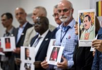 Fabrice Coffrini/AFP/Getty Images Survivors and activists of Ending Clergy Abuse, a new international organization against the child sexual abuse in the Catholic Church, Geneva, Switzerland, June 7, 2018