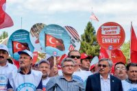 "Protesters held placards reading ""U.S.A. get out of Middle East"" in front of the United States embassy in Ankara, Turkey, earlier this month.CreditCreditAgence France-Presse — Getty Images"