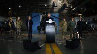El presidente de Argentina Mauricio Macri anunció el 23 de julio de 2018, en Campo de Mayo, la reforma que modificará el rol de las Fuerzas Armadas Argentinas. Credit Agence France-Presse — Getty Images