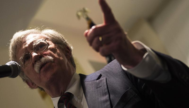 John Bolton speaks to the Federalist Society on 10 September. Photo: Getty Images.