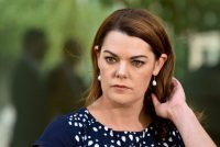 Senator Sarah Hanson-Young at an Australian Greens news conference at Parliament House in February.CreditCreditMichael Masters/Getty Images