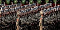 Chinese military marching. Kevin Frayer/Getty Images.