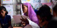 Rohingya refugee children in classroom. Munir Uz Zaman/AFP/Getty Images