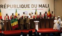 Mali President Ibrahim Boubacar Keïta stands at the closing of his presidential inauguration ceremony Tuesday in Bamako, Mali. (Reuters)
