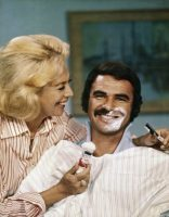 Burt Reynolds surrenders his trademark mustache to Dinah Shore for a 1973 television special. The variety show hostess was nearly 20 years older than Reynolds, her boyfriend.CreditCreditNbcu Photo Bank
