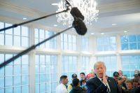 El presidente Trump en un evento en agosto en el Club de Golf Nacional Trump en Bedminster, Nueva Jersey Credit Tom Brenner para The New York Times