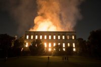 The 200-year-old National Museum of Brazil, in Rio de Janeiro, on Sunday. Credit Leo Correa/Associated Press