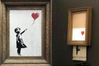 L'oeuvre de Bansky s'est auto-détruite après sa vente. Sotheby's