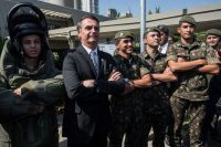 Jair Bolsonaro, candidato a la presidencia de Brasil, durante un evento militar en São Paulo en mayo de 2018. Credit Nelson Almeida/Agence France-Presse — Getty Images