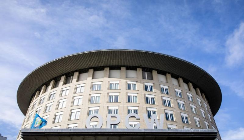 The headquarters of Organization for the Prohibition of Chemical Weapons in The Hague. Photo: Getty Images.