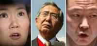 La presidenta de Fuerza Popular, Keiko Fujimori; el expresidente Alberto Fujimori y el congresista, actualmente suspendido, Kenji Fujimori Credit Luka Gonzales/Agence France-Presse — Getty Images; Reuters; Mariana Bazo vía Reuters