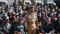 Afghan General Abdul Raziq (C), police chief of Kandahar, poses for a picture during a graduation ceremony at a police training centre in Kandahar province on 19 February, 2017. JAWED TANVEER / AFP