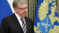 Alexei Kudrin meets with other Russian Accounts Chamber officials in May. Photo via Getty Images.