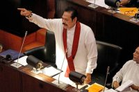 Mahinda Rajapaksa, prime minister of Sri Lanka, addressing the legislature on Thursday.CreditCreditM A Pushpa Kumara/EPA, via Shutterstock