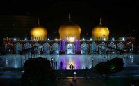 The Memon Mosque at night in Karachi, Pakistan. CreditCreditShahzaib Akber/EPA, via Shutterstock